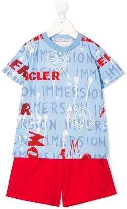 Moncler Enfant logo print T-shirt and shorts set
