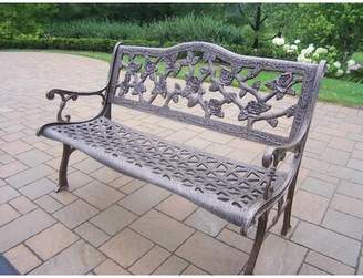 Astoria Grand Mcgreevy English Rose Aluminum Bench Astoria Grand Color: Antique Bronze