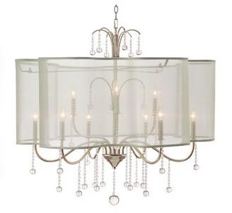 John-Richard Collection Parisian 9-Light Candle Style Geometric Chandelier