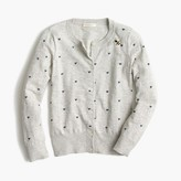 J.Crew Girls' Caroline cardigan sweater with hearts and bees