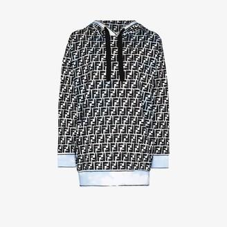 Fendi FF monogram logo-print hoodie
