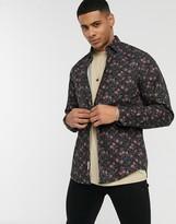 Esprit floral print shirt in black