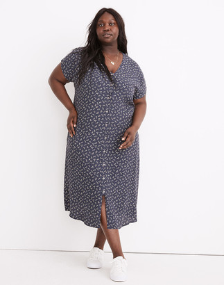 Madewell Plus Easy Midi Dress in Spring Fling