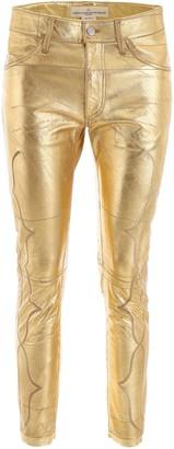 Golden Goose Metallic Cropped Pants