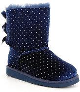 UGG Girls' Bailey Bow Starlight Velvet Glitter Dot Boots
