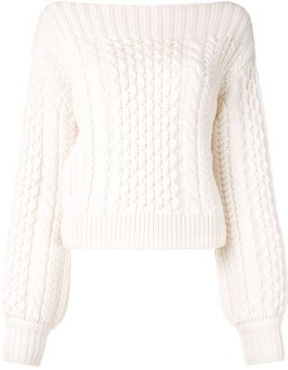 Proenza Schouler White Label Cable-Knit Wool Jumper