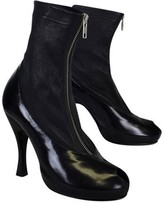 Strategia Black Ankle Heels w/ PeepToe