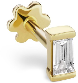 Maria Tash Baguette Diamond Threaded Stud Earring