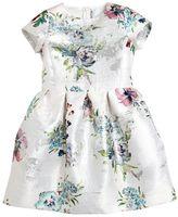 Simonetta Floral Brocade Satin Party Dress