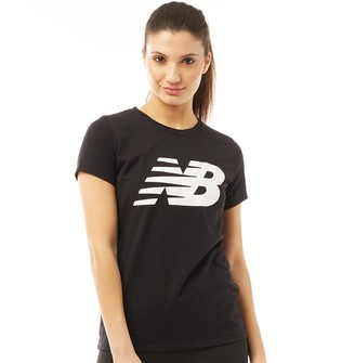 New Balance Womens Core Flying NB Logo T-Shirt Black