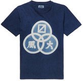 Blue Blue Japan Slim-Fit Printed Indigo-Dyed Cotton-Jersey T-Shirt