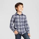 Cat & Jack Boys' Long Sleeve Button Down Flannel Shirt Cat & Jack - Gray