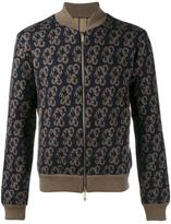 Etro knitted paisley bomber jacket - men - Polyester/Acetate/Wool - L