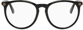 Gucci Black Acetate Round Glasses