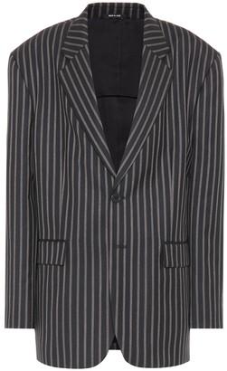 Maison Margiela Striped wool-twill blazer