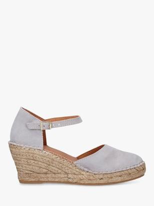 Carvela Comfort Simple Suede Espadrille Sandals, Grey