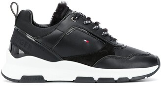 Tommy Hilfiger Fur-Trimmed Low-Top Sneakers