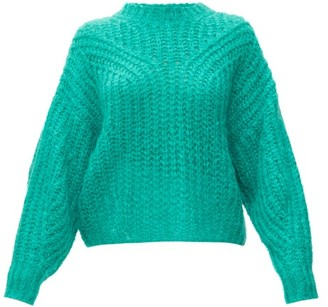 Isabel Marant Inko Pointelle Mohair Blend Sweater - Womens - Green
