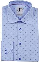 Finollo Made in Italy Men's Printed Buttoned Dress Shirt