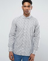 Benetton Shirt In All Over Print In Slim Fit