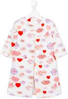 Max & Lola - lip print coat - kids - Cotton - 8 yrs