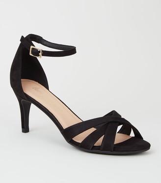 New Look Suedette Strappy Mid Stiletto Heels