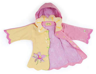 Kidorable Little Girl with Comfy Lotus Flowers Raincoat