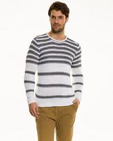 Le Château Stripe Chunky Tape Yarn Sweater