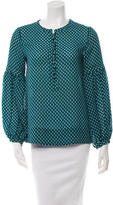 Derek Lam 10 Crosby Printed Button-Up Top