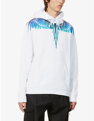 Marcelo Burlon County of Milan Wing-print cotton-jersey hoody