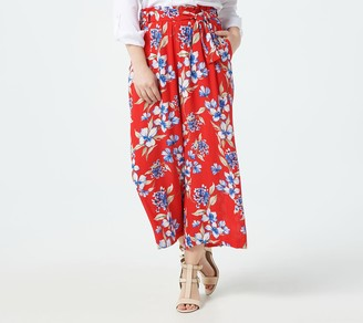Gibson Look Cropped Wide Leg Pant