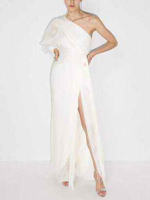 Maria Lucia Hohan One-Shoulder Knot Silk Gown