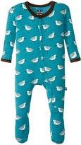 Kickee Pants Print Footie (Baby) - Bay Sandpiper - Newborn