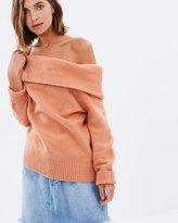 MinkPink Sunday Off-Shoulder Knit