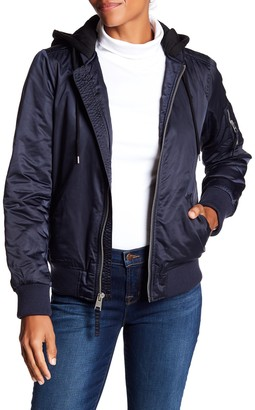 Levi's Drawstring Hooded Bomber Jacket