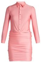 Balenciaga Point-collar sretch-fabric shirt dress