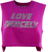 Chiara Ferragni Fuchsia Cotton Cropped T-shirt