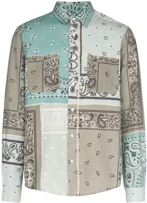 Amiri Patchwork Bandana-Print Shirt