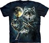 The Mountain Men's Moon Wolves Collage T-shirt