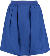 Carven Cotton-blend canvas mini skirt
