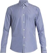 Balenciaga Single-cuff pinstriped cotton-poplin shirt