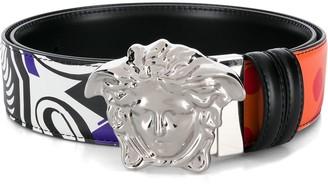 Versace Medusa mix-print belt