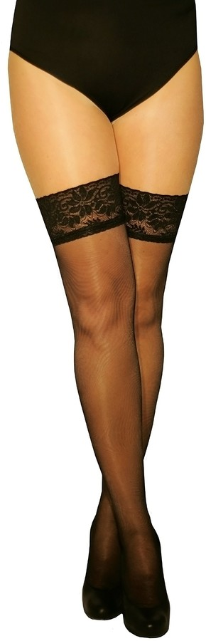 Marilyn transparent stockings with 10 cm silicone adhesive tape lace 15 denier size 40/42 (M / L)