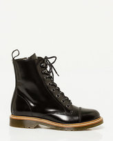 Le Château Leather Lace-Up Combat Boot