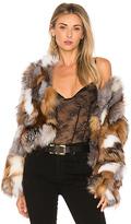 Jocelyn Fox Fur Sections Jacket