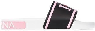 Dolce & Gabbana asymmetric logo slides