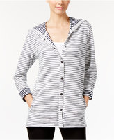 Style&Co. Style & Co. Striped Hooded Jacket, Only at Macy's