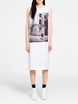 DKNY Silk Printed Midi Dress