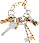 Balenciaga Gold and Silver Multiple Key Bracelet
