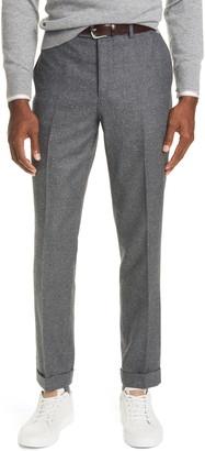Brunello Cucinelli Houndstooth Wool & Silk Suit